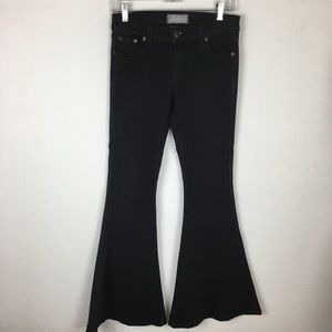 Free People Black Flare Jeans size 27